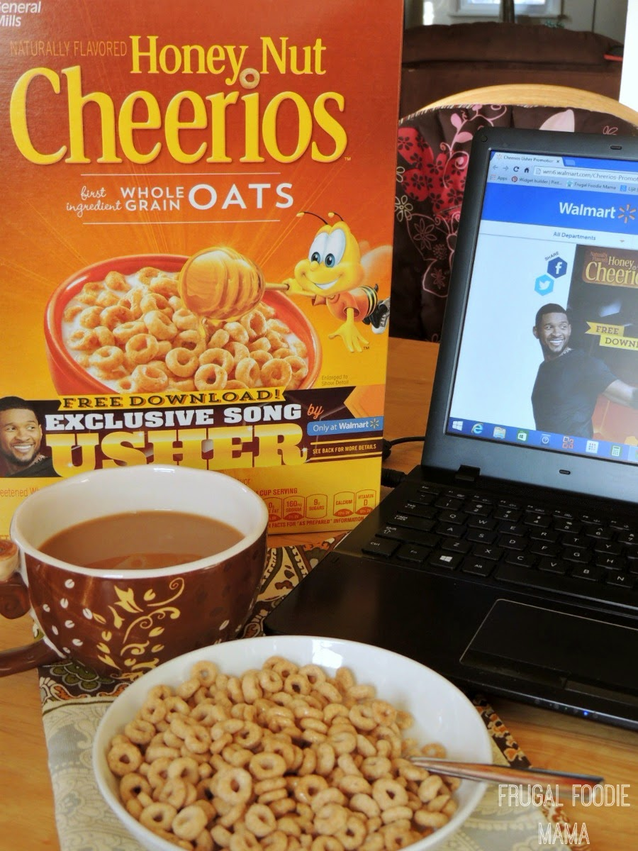 A Blogger's Morning Made Better with Honey Nut Cheerios and Usher #sp #breakfast