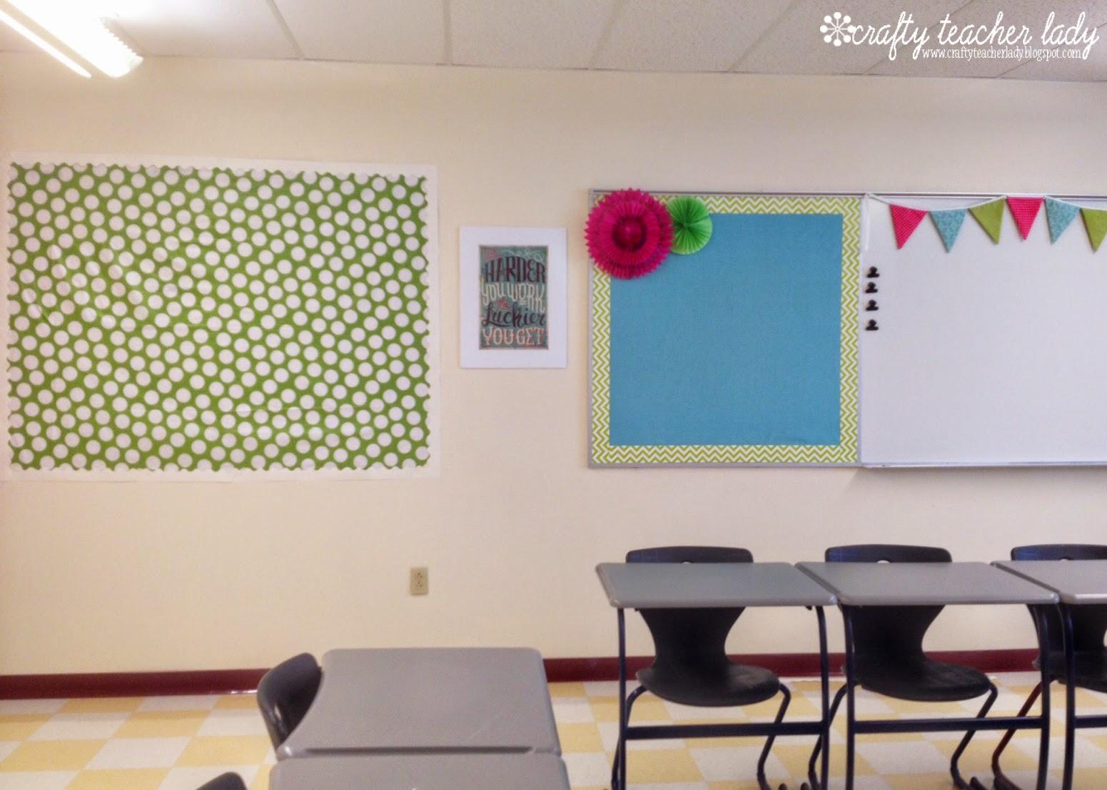 Crafty Teacher Lady Classroom Tour Decorations