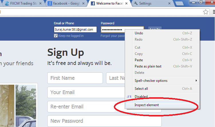 Hack Facebook Password without using any software - Wave the world