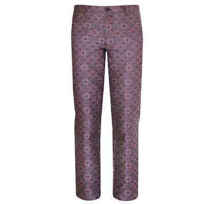 ann demeulemeester silk jacquard purple pants