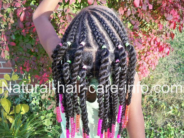 Little Girl Cornrow Hairstyles with Beads