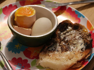 The perfect soft boiled duck egg