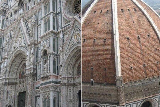 Exterior y cúpula de cerca – Catedral de Santa Maria del Fiore en Florencia, Firenze