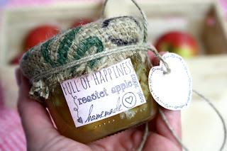 Rezept Bratapfelmarmelade und kostenlose Etiketten und Label