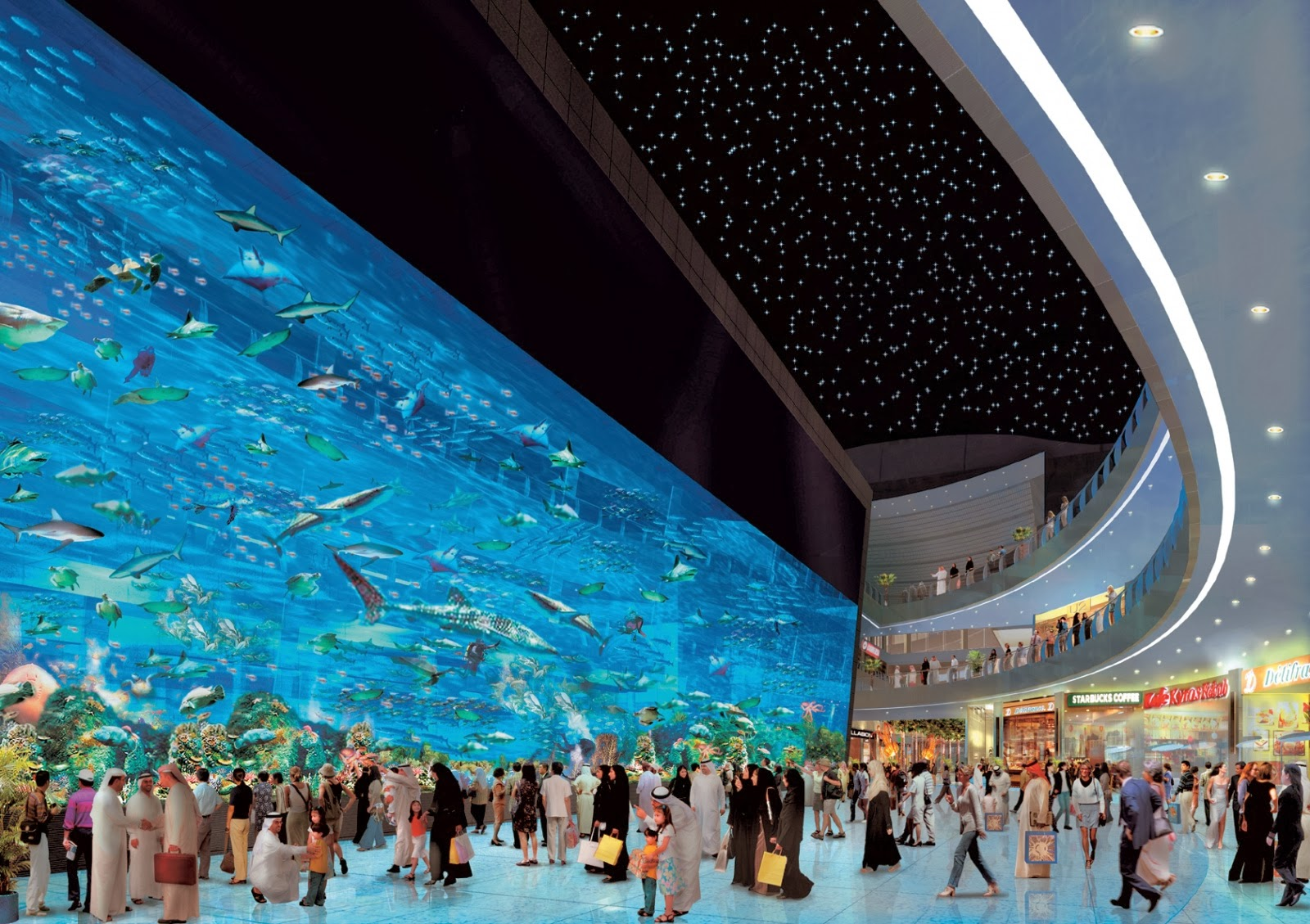 Dubai Aquarium, no Mall of the Emirates