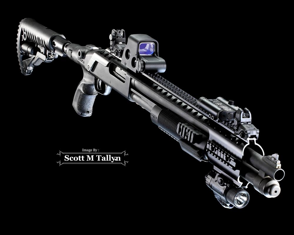 GunShots Photography: Mossberg 590 Custom Tactical Shotgun