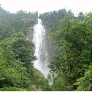 Sigura gura Waterfall Tourist Places in North Sumatra