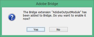 adobe bridge cc 2017 output