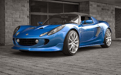 Image of the blue Lotus Car