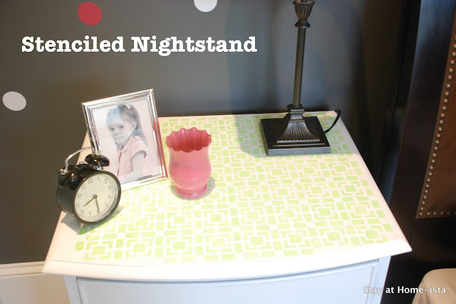 stenciled nightstand top
