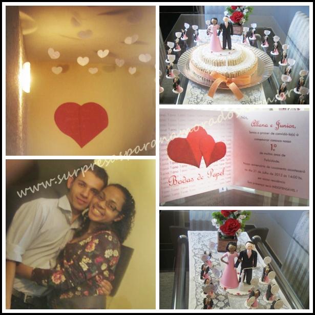 bodas de papel 1 ano de casados