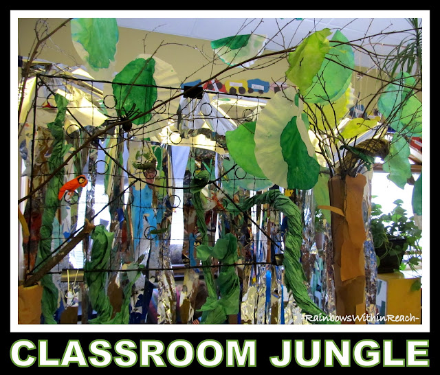 "Reggio Arts Infused ""Jungle Classroom"" via RainbowsWithinReach"