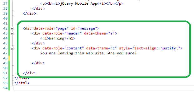 create a jQueryMobile Popup Dialog in 10 minutes