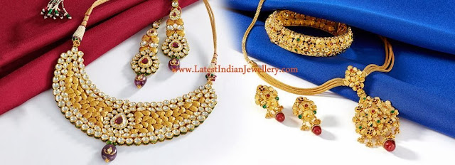 Antique Gold Kundan Jewellery