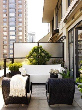 terraza blanco negro