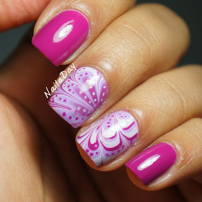 NailaDay: Pink Watermarble with Sinful Colors Polishes