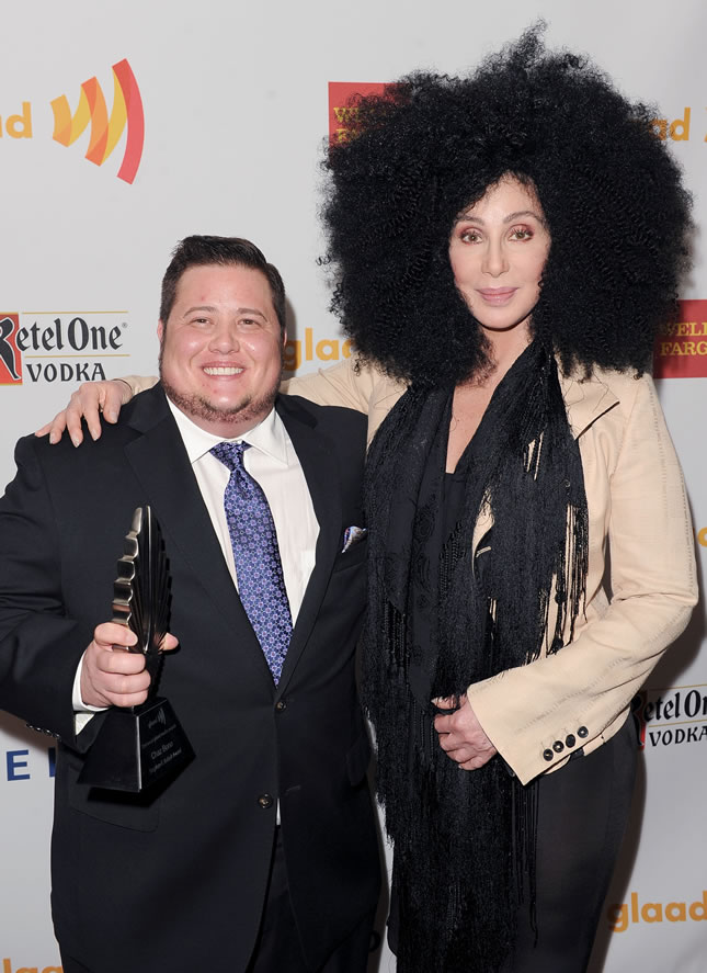Chaz Bono e sua mãe, a contara Cher (Foto: Getty Images)