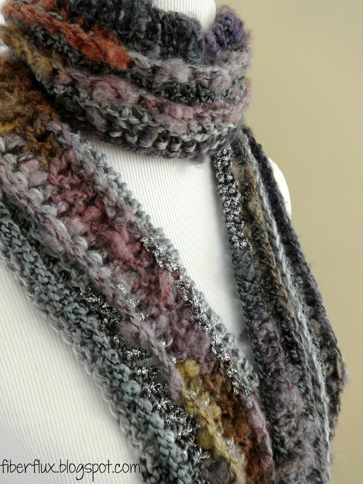 ... dust scarf is an elegant and artsy scarf that is crocheted lengthwise