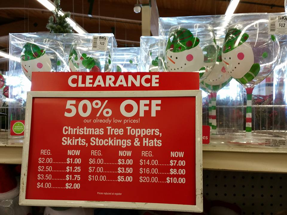 big lots after christmas clearance finds 50 off gift wrap home decor more - Big Lots White Christmas Tree