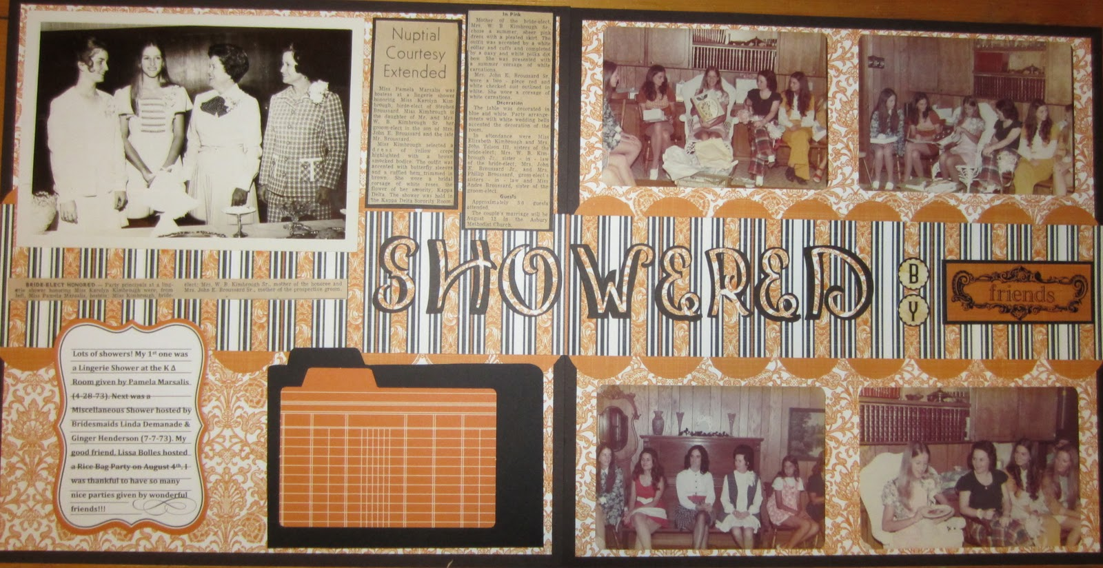 Ziplining scrapbook ideas - Another Page For Her Wedding Scrapbook Based On One Of Their Showers