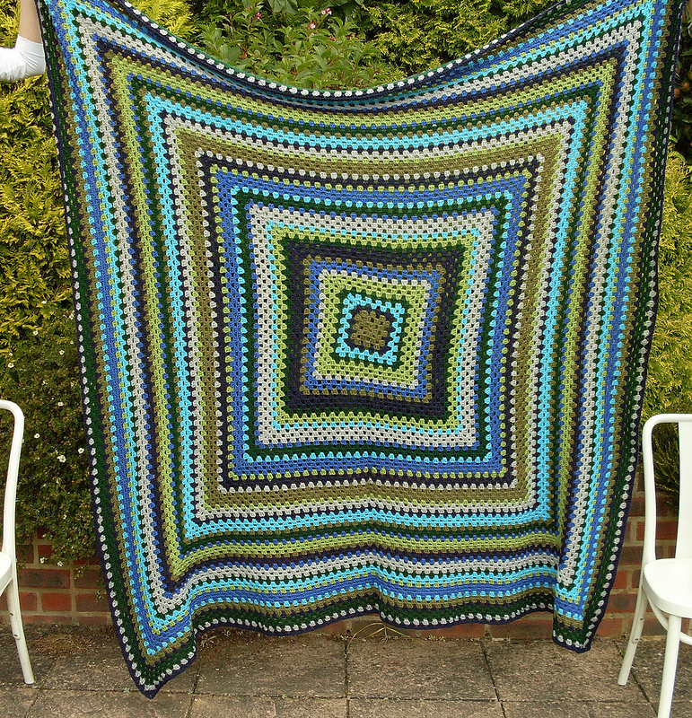 Bugs And Fishes By Lupin Giant Granny Square Blanket Finished