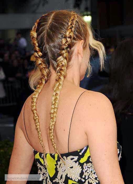 peinados trenzas 2014 Gala Met