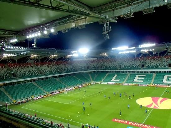 Pusta Żyleta podczas meczu Legia - Apollon - fot. Tomasz Janus / sportnaukowo.pl