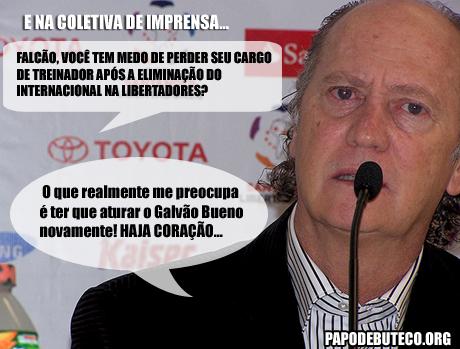 Falcão, Inter Eliminado, Charge Internacional