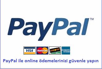 paypal ile kredi kartı alışverişlerinizi güvenle yapabilirsiniz