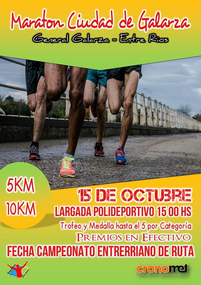 Maratón Ciudad de Galarza 10 km ( Entre Rios)