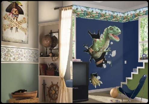 wallpaper kids bedroom. Dino Wallpaper for Boy Bedroom