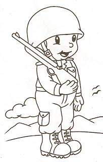 Desenhos Para Colori soldado  desenhar