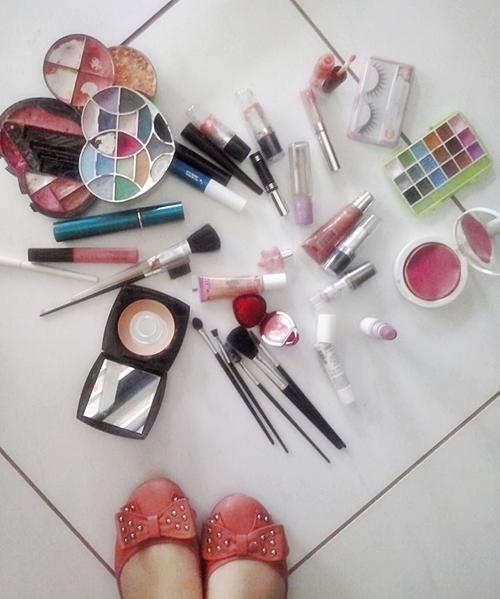 maquiagem, coração
