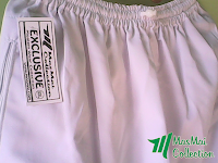 Celana Panjang Putih MasMai Collection (Bahan Keper)