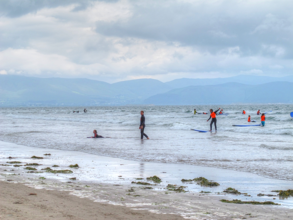 Learning how to surf at Inch Beach, south-west coast of Ireland photos by susan wellington