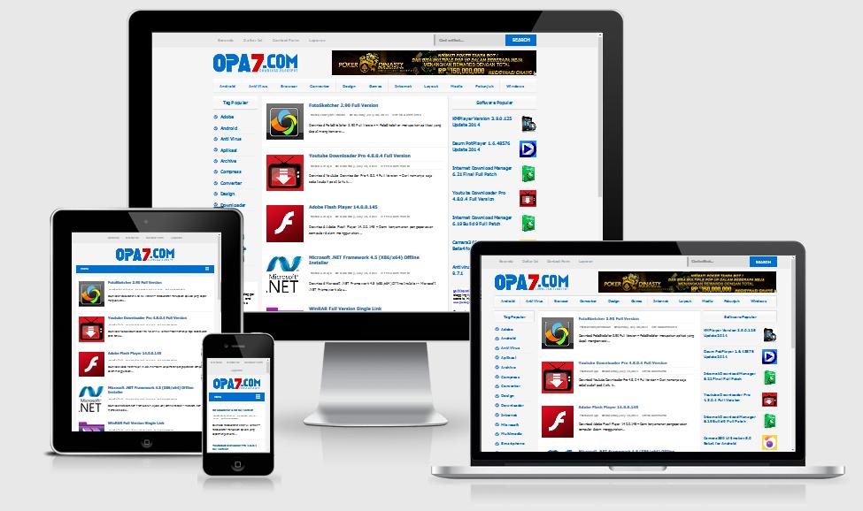 Opa7 Premium Responsive Blogger Template