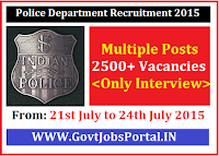 Jharkhand Recruitment 2015