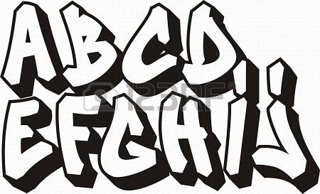 Piosenki literki graffiti - Lettre graffiti alphabet ...