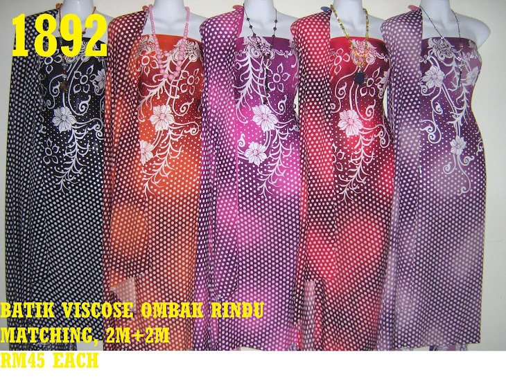 BVM 1892: BATIK VISCOSE MATCHING, 2M+2M, 5 COLORS