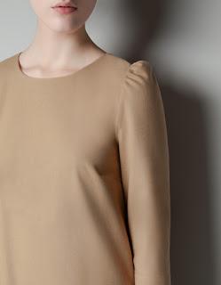 zara siyah ve krem rengi elbise modeli