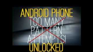 How to unlock android phone when not knowing ID/Password after too many wrong pattern attempts..? Android+unlock
