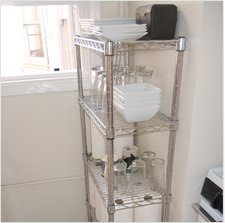 A Small Kitchen Space Saver. March 21, 2011. Wire Shelving