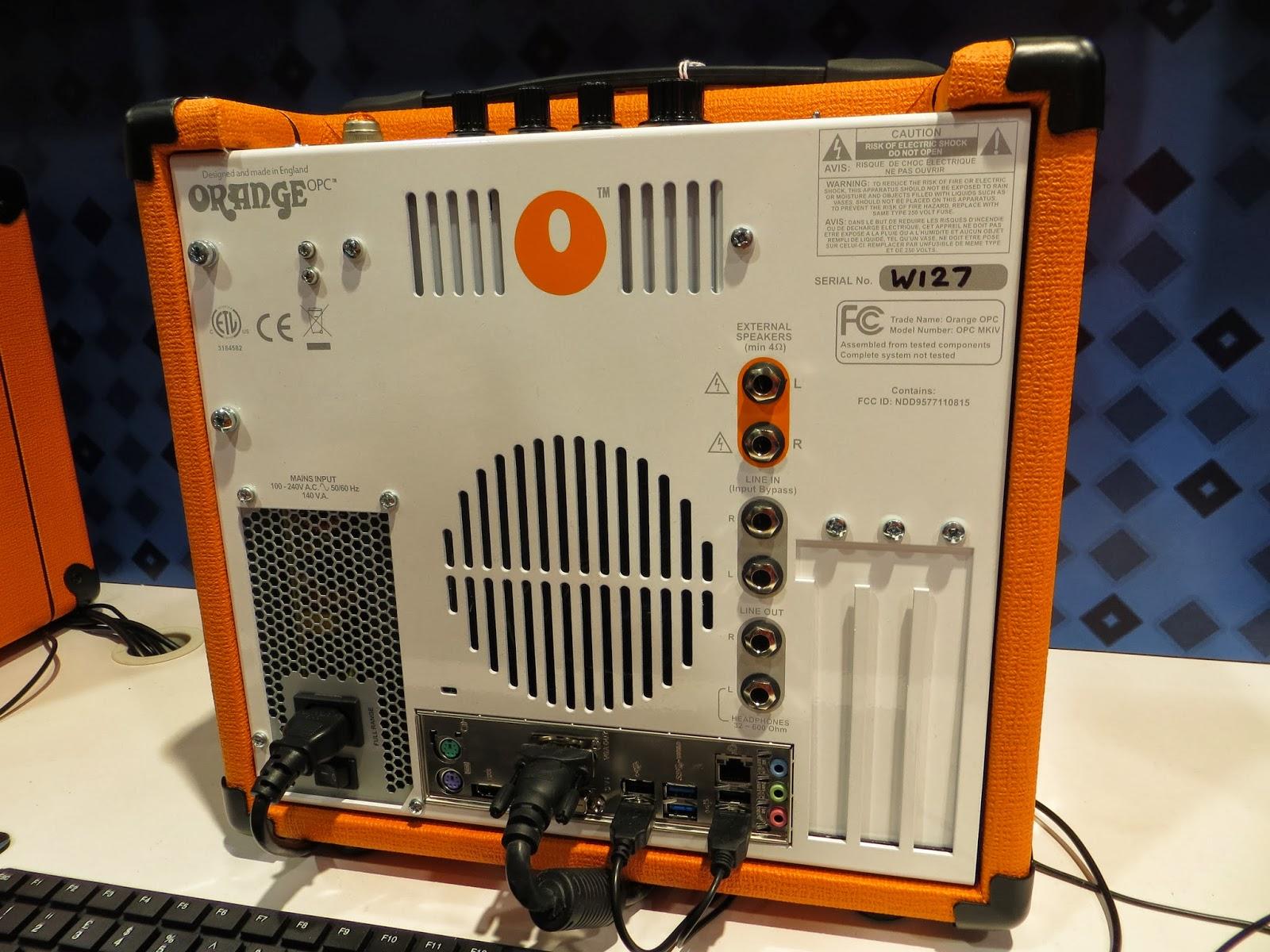 orange amp computer, orange computer amp, computer amp