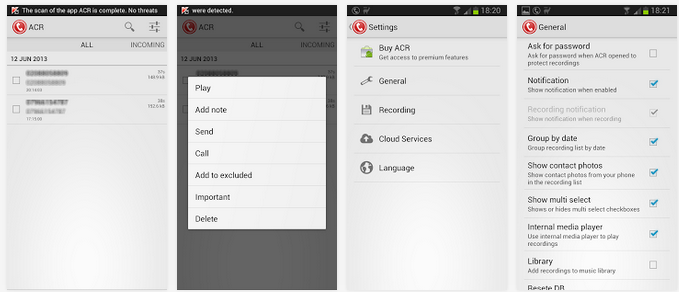 تحميل برنامج تسجيل المكالمات بشكل تلقائي للأندرويد Call Recorder - ACR APK 14.9