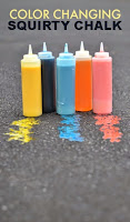 Magic color changing squirt chalk- my kids thought this was SO COOL!