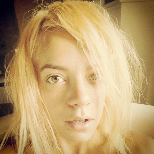 singer Lily all new hair color and without makeup