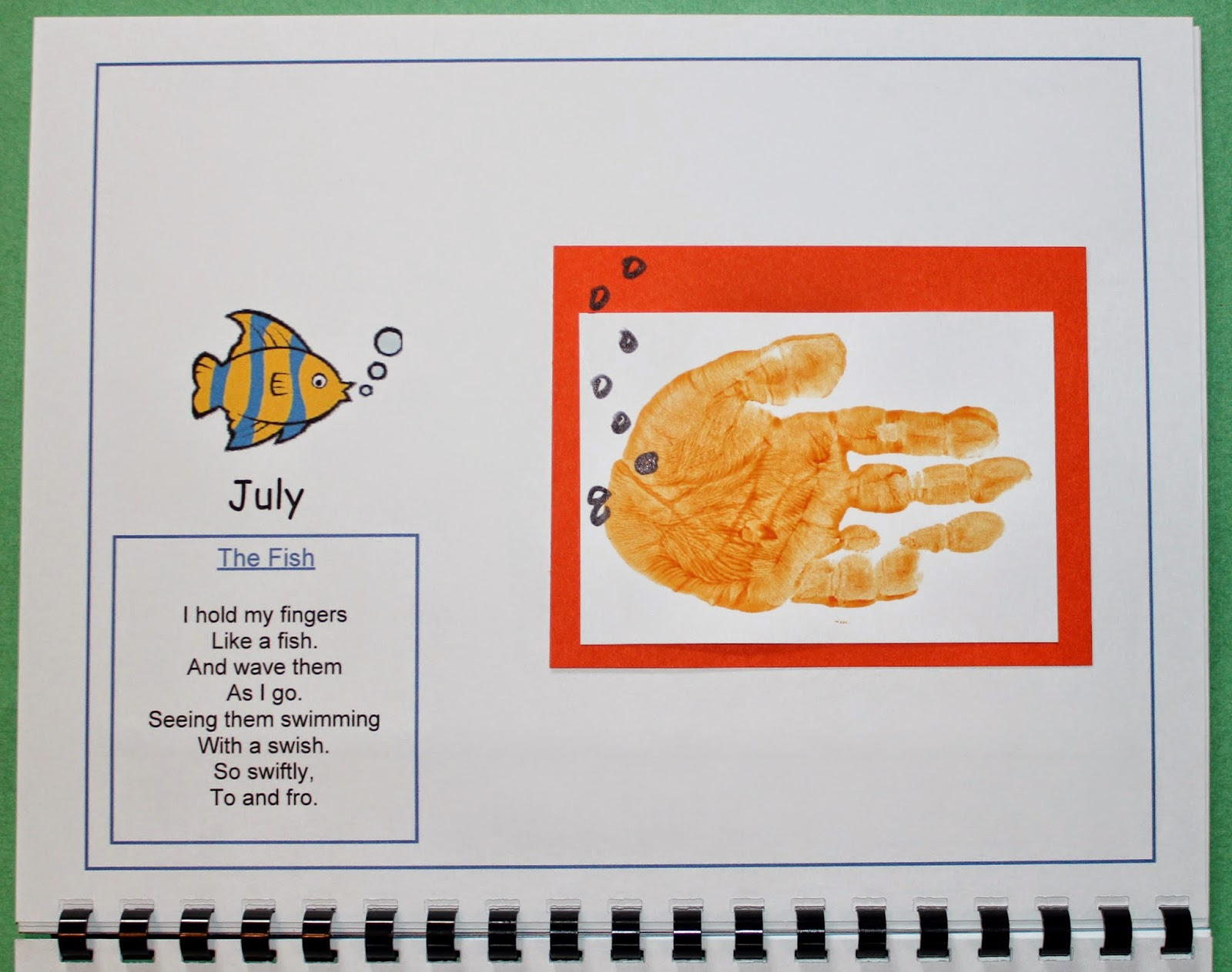 2016 Handprint Calendar Template with and without US Holidays