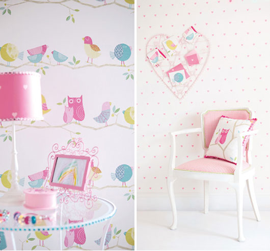 Ceyshause ile dekorasyon for Girls bedroom wallpaper ideas