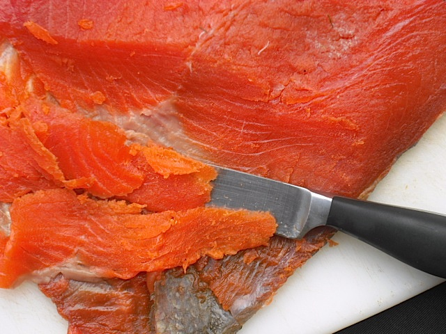 Kitchen bounty salt cured salmon with whiskey gravlax for Salt cured fish