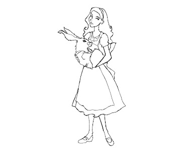 #4 Alice in Wonderland Coloring Page